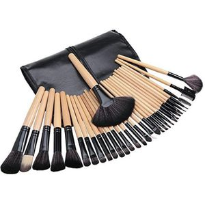 32 pcs Natural Wood Handles Makeup Brush Set for Sale in Bakersfield, CA