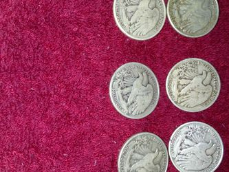 Six Half Dollar Walking Liberty Coins Mixed Dates And Marks for Sale in Morgantown,  WV