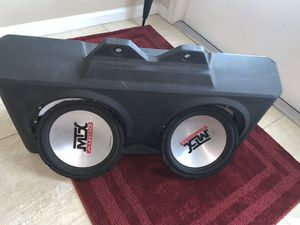 """MTX dual 10"""" subwoofer with box for Sale in Port St. Lucie, FL"""