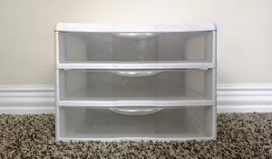 Sterilite Small Three Drawer Storage Unit for Sale in Katy, TX