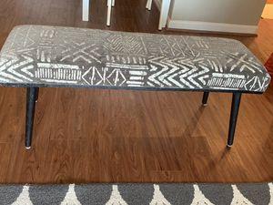 Gray Chenille Safari Navarra Upholstered Bench for Sale in Fairfax, VA
