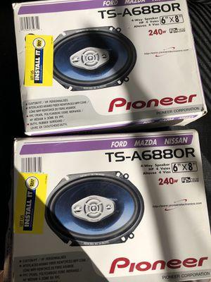 4 Pioneer 6x 8 speakers Car Speakers for Sale in Phoenix, AZ