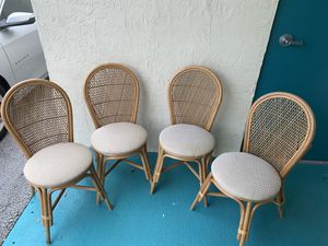 Set of 4 Rattan Chairs for Sale in Weston, FL