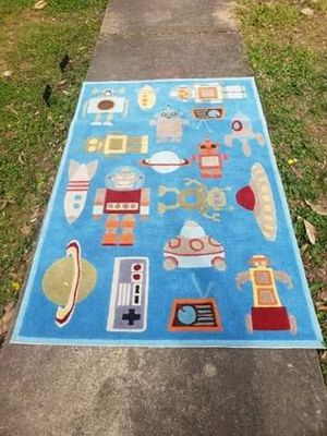 5X7 Momeni Lil Whimsy Spaceships and Robots Rug for Sale in Farmville, VA