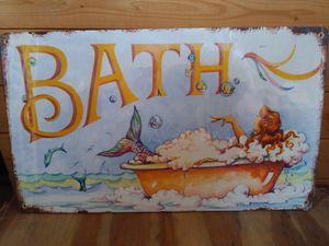 "Mermaid Bath metal sign. 8x14"" for Sale in San Diego, CA"