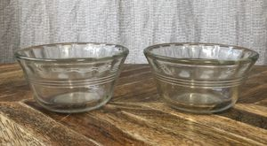 2 Small Vintage Pyrex Clear Glass Custard Dessert Cups for Sale in Houston, TX