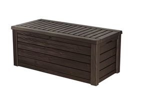 Keter Westwood Plastic Deck Storage Container Box Outdoor Patio Garden Furniture 150 Gal, Brown, new in box for Sale in Lexington, KY