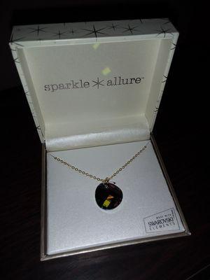 Necklace with Swarovski glass crystal pendant. for Sale in La Mesa, CA