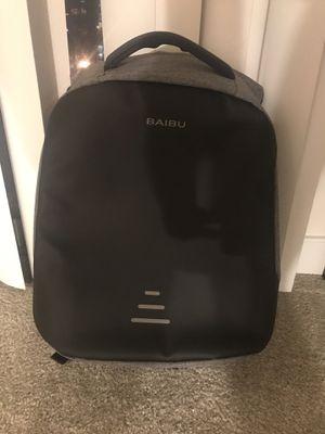 New Men 15.6 Laptop Backpack Anti Theft Backpack USB Charging Women School Notebook Bag Oxford Waterproof Travel Backpack (Grey) for Sale in Arlington, VA