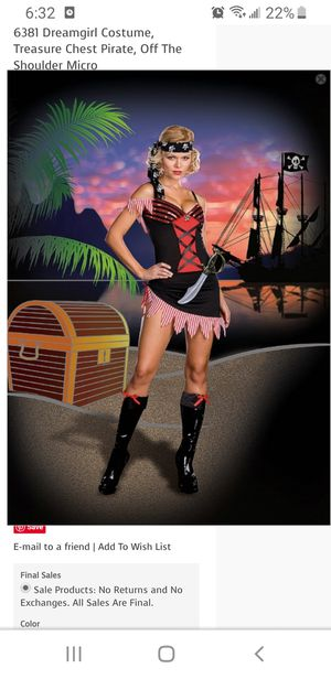 Sexy Pirate Costume for Sale in West Covina, CA