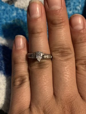 real diamond engagement wedding ring pear teardrop for Sale in Ontario, CA