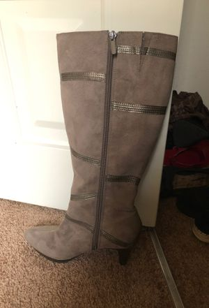 Grey high boot! Excellent condition! for Sale in Millville, NJ