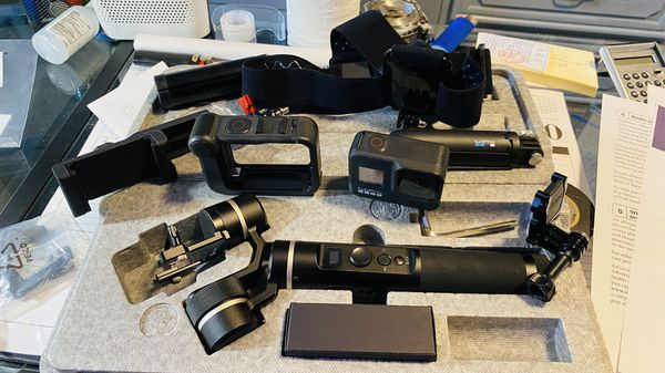 GoPro Black 8 with accessories.
