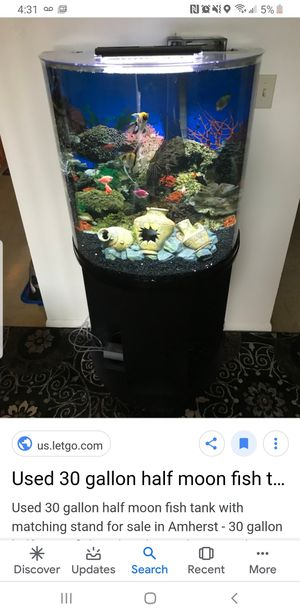 12 Gallon Moon Fish Tank with all necessary equipment included for Sale in Lewisburg, TN