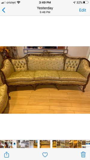 Antique Victorian settee & chair for Sale in San Diego, CA