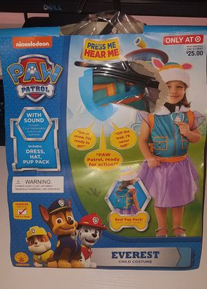 Paw Patrol Everest child costume from Rubies - Toddler for Sale in Hialeah, FL