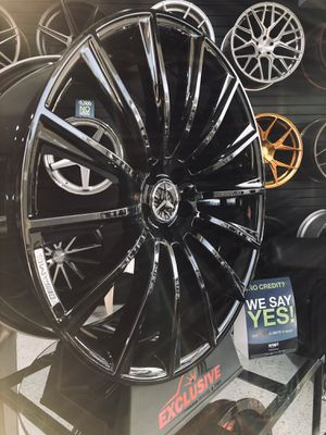 20x8.5 and 20x9.5 gloss black Mercedes style wheels fits cl s and e class 5x112 wheel tire rim shop for Sale in Tempe, AZ