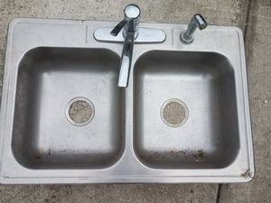 Stainless steel kitchen sink with faucet for Sale in Lakeland, FL