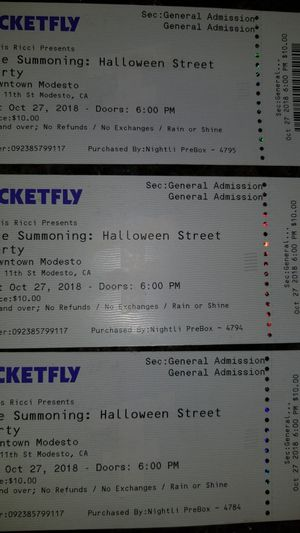 Halloween Street Party : Tickets for Sale in Modesto, CA