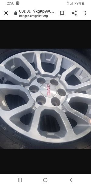 4 New takeoffs Chevy wheels and tires 18 inches for Sale in Auburndale, FL
