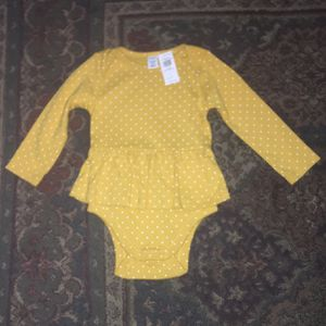 Old Navy Toddler Girl's Polka Dot Skirt Long Sleeve Onesie, Size 12-18 Months for Sale in San Diego, CA