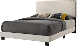 *Brand New* Belle Isle Furniture Royale Upholstered Bed Queen, Beige for Sale in Dublin, OH