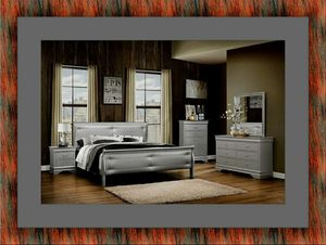 11 PC grey Marley bedroom set with mattress for Sale in Hyattsville, MD