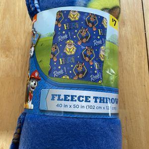 Paw Patrol Fleece Throw for Sale in Moore, OK