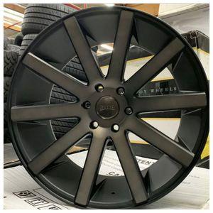 "22"" inch BLACK DUB Wheels S121 Shot Calla GMC Tahoe Suburban Escalade Silverado Rims for Sale in Corona, CA"