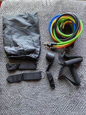 Resistance bands available 11Pcs for Sale in Pasadena, MD