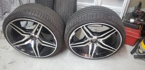 19 inch rima and tires for Sale in Fresno, CA
