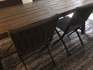 Teak Kitchen Table Table and 4 Chairs for Sale in Huntington Beach, CA