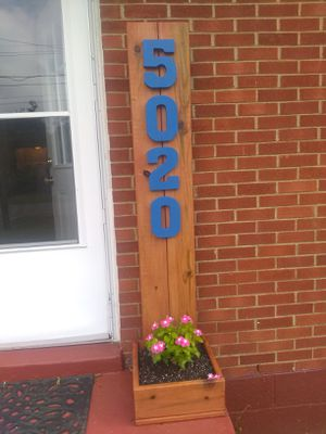 Planter boxes with address, last name, or welcome. for Sale in Hermitage, TN