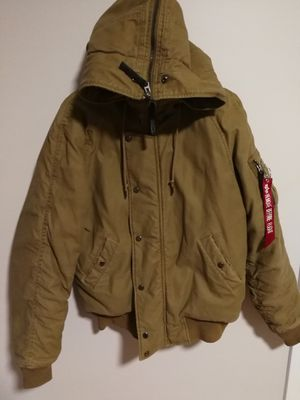Alpha industries women's hoodie flight jacket size S in excellent condition for Sale in Boston, MA