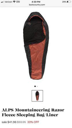 Alps Mountaineering Fleece Sleeping Bag for Sale in Hesperia,  CA