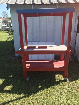 Wood cart for Sale in Zephyrhills, FL