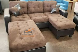 Brand New Brown Microfiber Sectional Sofa Couch + Ottoman for Sale in Falls Church, VA