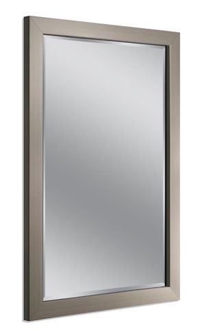 40 in. x 28 in. Modern Wall Mirror in Brushed Nickel for Sale in Walnut, CA