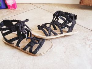 Girls black sandals size 11 for Sale in Monrovia, CA