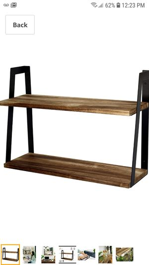 Peter's Goods 2-Tier Rustic Floating Wall Shelves for Bedroom, Kitchen, Living Room, Bathroom Decor & Storage - Modern Rustic Farmhouse Bookshelf for Sale in Coal City, IL