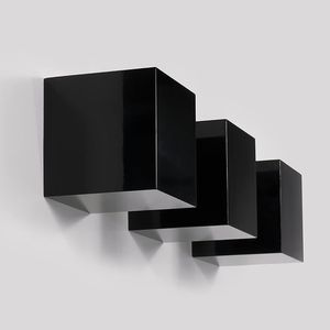Set of 3 Wall Cubes Floating Block Shelves (Black) for Sale in Orland Park, IL