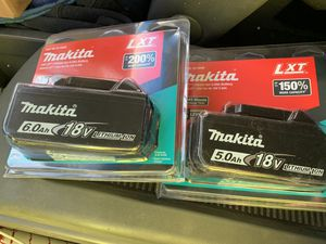 New Makita batteries 5.0 and 6.0 for Sale in Diamond Bar, CA