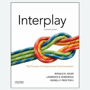 Interplay The Process of Interpersonal Communication 14th 9780190646257 9780190646264 eBook PDF Free Instant for Sale in Pomona, CA