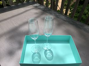 Tiffany's & Co Wedding Champagne Flutes for Sale in Lowell, MA