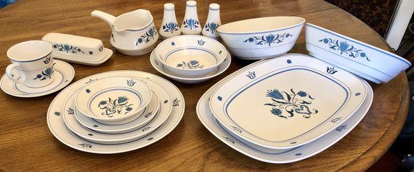 Noritake China Blue Haven 79 piece Set
