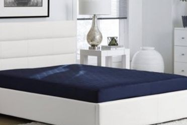Value 6 Inch Polyester Filled Quilted Top Bunk Bed Mattress, Full, Navy for Sale in Chelsea,  MA