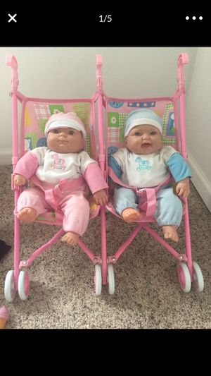 Twin baby dolls and stroller for Sale in Chicago, IL