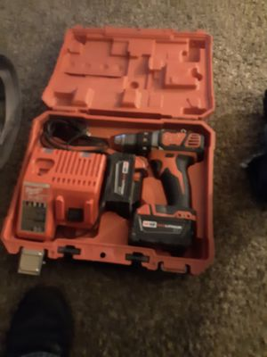 Milwaukee 18 vols with 2 drills for Sale in Crawfordsville, IN