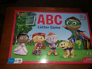 SUPER WHY ABC LETTER BOARD GAME COMPLETE for Sale in Norfolk, VA