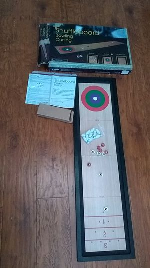 Shuffle board , bowling, curling ,3 games comes with instructions how to play the games!! for Sale in Wildomar, CA